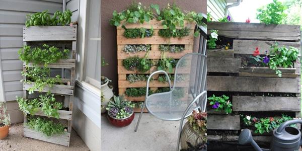 jardin vertical fabriqué en palette